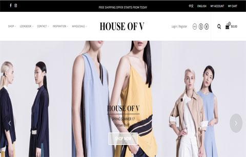 服装商城网站案例