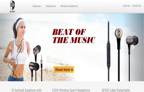 外贸耳机网站案例